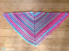 Shawl: Finished (Thunderella05) Tags: summer spring rainbow bright crochet blanket boutique shawl multi