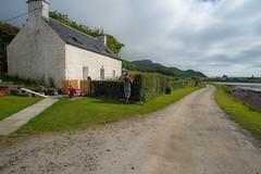Island Idyll (Dafydd Penguin) Tags: island idyll isle canna life lady red hair corniche cottage scotland west coast small isles hebridean sea water land nikon d600 nikkor 20mm af f28d