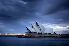 Stormy Opera (robertdownie) Tags: sky house water clouds harbor opera long exposure harbour sydney australia stormy nsw