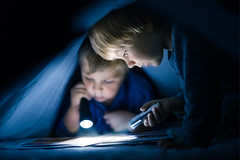secrets (iwona_podlasinska) Tags: night flashlight bed secret magical iwona podlasinska brothers boys throughherlens