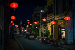 Chinese Lanterns in Melaka, Malaysia (ben_leash) Tags: street city blue urban night town asia southeastasia nightlights sony chinese streetphotography malaysia melaka chineselamp malacca peranakan a77 chineselantern straitschinese