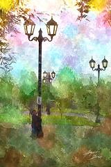 Farol Parque (Diez Visualcreativo) Tags: chile santiago digital photoshop la foto arte florida alejandro pintura magallanes rojas retoque diez photoshopcreativo visualcreativo