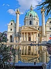 Karlskirche, Vienna (Tobi_2008) Tags: vienna wien reflection church austria sterreich europa europe kirche spiegelung eglise karlskirche