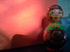 Woman in Shadow (Kookoo sabzi) Tags: color russiandoll portraitofalady may2013 ladyinshadow