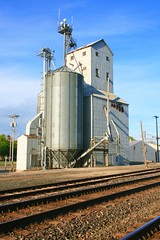 Heartland (7) (eaglemac) Tags: railroad ohio sky mill rural train outdoors farm elevator grain tracks indiana roadtrip farmland grassland
