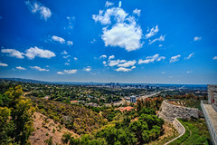 The View from the Getty Museum (Samantha Decker) Tags: california ca clouds photoshop canon eos rebel la wideangle adobe gettymuseum uwa canonefs1022mmf3545usm cs6 losngeles 550d t2i sdca topazadjust samanthadecker