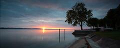 Sunstar (Tobias Knoch) Tags: red panorama lake tree beach yellow sunrise canon eos schweiz switzerland mark iii smooth shift ii nd 5d 24mm tobias grad 35 tilt bodensee konstanz constance tse graduated density neutral sunstar tiltshift kreuzlingen knoch calmn konstant hitech0 grã¼n 9sesoftedge