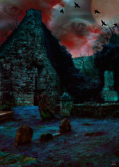 Dreams and Nightmares (ReikiJan24 [Busy Busy - Catch up sooooon!]) Tags: painterly abstract art scotland ruins surreal spooky ethereal clachanofcampsie hss pictography sonya200 creativeartphotography pse10 happyslidersunday stmachansgraveyard reikijan24