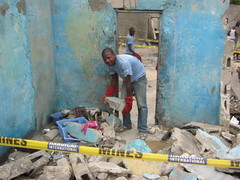 Brazzaville: Making a city safe -  Congo-Brazaville (Handicap International UK) Tags: residential clearance handicapinternational brazzaville munitions congobrazzaville republicofcongo explosiveweaponsclearance munitionedepot