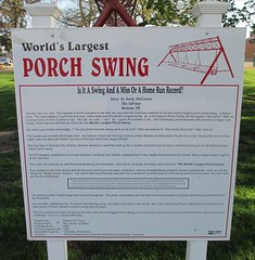 World's Largest Porch Swing Marker (Hebron, Nebraska) (courthouselover) Tags: nebraska ne roadsideamerica hebron worldslargestthings thayercounty