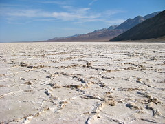 Salt Formations (spork_spelunking) Tags: california hot nature landscape outdoors nationalpark desert low dry hike basin deathvalley badwater belowsealevel