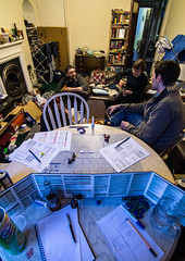 View from behind the screen (graham.james.campbell) Tags: dragons games giants rogue dd tabletop dungeons warforged genasi