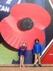 Olympic Way (David Crausby) Tags: london football poppy fans supporters mcfc 4s wembley iphone mancity facupfinal 2013 uploaded:by=flickrmobile flickriosapp:filter=nofilter