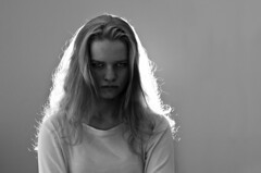 Emma Fontbonne (Alexander JE Bradley) Tags: portrait people blackandwhite bw paris france girl face set female studio square french photography nikon artist expression collection angry flare mean mad unhappy photographe 75011 2470mmf28 d7000 alexanderbradley backlightflash alexanderjebradley atelierrenee emmafontbonne