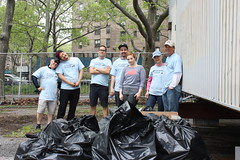 Riverkeeper Sweep at Queensbridge Park (hudsonriverkeeper) Tags: cleanup queens sweep riverkeeper rvksweep