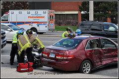 Crash at Tomken & Matheson sends 3 to hospital (2 of 2 photos) (Dan Sutton) Tags: crash mississauga matheson prp mvc mississaugafire tomken peelparamedics tonmat