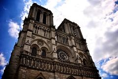 Notre Dame (Ani1967) Tags: city blue sky cloud paris france history church architecture religious europe faith religion ile tourist medieval notredame bleu ciel histoire nuage medievale eglise notredamedeparis attraction cathedrale touristique cité