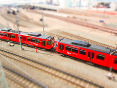 Toy Train (tnigu) Tags: petcopark tiltshift sandiegotrolley sandiegoconventioncenter s95
