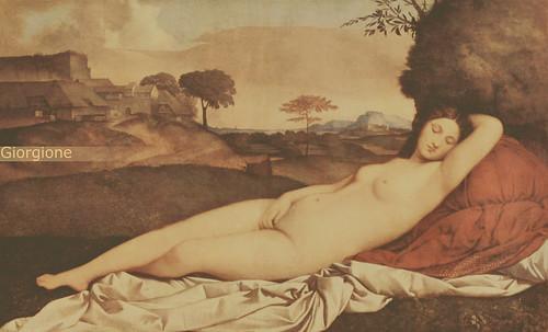"""Genealogía de las Soñantes, versiones de Lucas Cranach el Viejo (1534), Giorgione (1510), Tiziano Vecellio (1524), Nicolas Poussin (1625), Jean Auguste Ingres (1864), Amadeo Modigliani (1919), Pablo Picasso (1920), (1954), (1955), (1961). • <a style=""""font-size:0.8em;"""" href=""""http://www.flickr.com/photos/30735181@N00/8746827787/"""" target=""""_blank"""">View on Flickr</a>"""