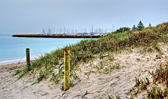 Posts and Masts (Padmacara) Tags: trees plants boats sand australia grasses yachts posts masts hdr d7000