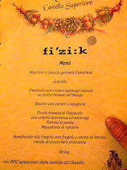 fi'zi:k Post-race Dinner Menu (bomboloni) Tags: italy bassanodelgrappa fizik