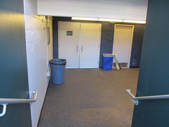 Citi Field, 05/16/13: entrance to the visitors' clubhouse from the dugout (IMG_0897) (Gary Dunaier) Tags: newyorkcity baseball stadiums queens mets queensborough newyorkmets queensboro ballparks flushing stadia queenscounty citifield
