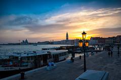 Venezia (Riccardo Senia) Tags: venice sunset italy panorama cloud sun colors landscape italia nuvola walk side wide sigma wideangle sole colori grandangolo veneto 10mm d5000