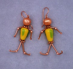 Children of the corn (KelpticFest) Tags: people corn farmersmarket handmade copper earrings lampworkglass cornpeople