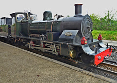 'Spitfire' after Arrival at Hoveton and Wroxham (Fake HDR) (Peter Ashton aka peamasher) Tags: transport engine railway steam locomotive narrowgauge