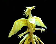 Origami Phoenix V.2 (Neelesh K) Tags: baby phoenix angel skull spider origami dragon faces masks lincoln batman joker daredevil wyvern uchiha neelesh madara boxpleating origamiphoenix