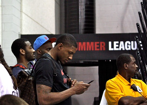 Crowd - John Wall, Bradley Beal, some Martell Webster