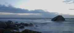 After sunset (Jessica Moberg) Tags: sunset beach water strand rocks long exposure vatten solnedgång stenar barsebäck lång slutartid