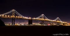 Bay Bridge Western Span (philipleemiller) Tags: california sanfranciscobay d600 sanfranciscooaklandbaybridge westernspan famousbridges nightphotoggraphy