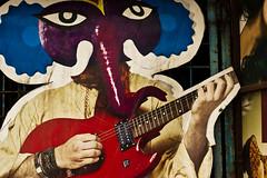 Ganesh 2013 (Kals Pics) Tags: street music india festival canon poster 50mm ancient guitar culture streetphotography historic divine celebration holy tradition kolkata historiccity westbengal cwc lordganesh ancientcity vinayakar chathurthi 550d incredibleindia sovabazar kalspics divineindia culturalindia chennaiweelendclickers