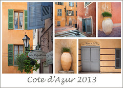 Cote d'Azur Collage... (Lady Haddon) Tags: france collage grasse cotedazur mosaic biot 2013 perchedvillage sep2013
