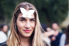 white butterflies in athens (helen sotiriadis) Tags: portrait white art canon butterfly paper published peace action athens greece meld whitebutterfly internationaldayofpeace milanrai canon6d