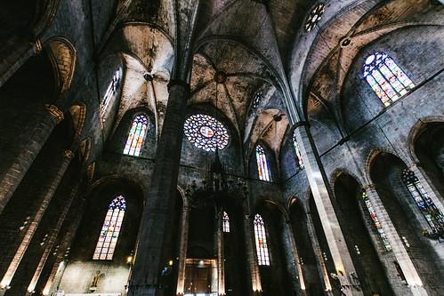 Inside Santa María del Mar, Barcelona