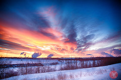 Industrial winter 3 (Kasia Sokulska (KasiaBasic)) Tags: winter snow canada cold color beauty sunrise landscape industrial alberta