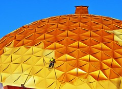 Repairs to the Gold Dome (tikitonite) Tags: