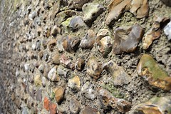 Old Flint Wall, Bokeh (A-Lister Photography) Tags: old uk england house home rock horizontal stone wall closeup architecture rural ancient rocks bokeh stones traditional bricks cement masonry structure domestic brickwall repair land stonewall flint built selectivefocus repaired flintwall adamlister nikond5100 alisterphotography