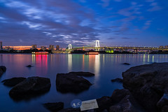 Tokyo... (A.K_Photography Hamburg) Tags: blauestunde blue bluehour bridge brücke bucht city citylights distagont2821 japan landscape langzeitbelichtung lights longexposure minato nature night nightshot nikond700 ocean odaiba odaibawaterfront präfekturtokio präfekturtokyo rainbow rainbowbridge regebogenbrücke reinbôburijji sea shibaura shibaurakai tokio tokiobay tokyo tokyobay water waterfront zf2 zeiss zeissdistagont2821zf2 explore
