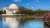 Jefferson Memorial (mhoffman1) Tags: park reflection water washingtondc memorial tourist un cherryblossom jefferson hdr thomasjefferson neoclassical westpotomacpark tidalbasin photomatix johnrussellpope potomicriver classicalrevival franklindrooseveltmemorialpark