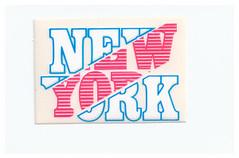 NEW YORK 80s sticker - adesiva - autocollant (THE MYCIA COLLECTION) Tags: new york usa sticker autocollant adesive adesiva