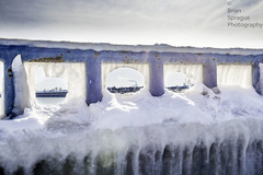 The East Coast in Winter (Brian Sprague Photography) Tags: ice smokestack railing icicles icesickles