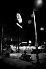Burger Cop (Pedestrian Photographer) Tags: california park street light bw food white black film church sign corner walking evening la los king shoot afternoon cross angeles jan burger echo helmet january fast police sidewalk motorbike crew cop crucifix motorcycle lamps pm department officer dept ribbet lapd 2014 dsc5233c