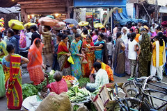 Colourful Crowd (pietkagab) Tags: street travel people india photography chaos colours kodak sale crowd ghat dashashwamedh mygearandme mygearandmepremium mygearandmebronze