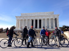 Old Man Ride Lincoln Memorial (Mr.TinDC) Tags: friends people david architecture buildings paul cyclists michael washingtondc dc marcus mary lincolnmemorial brook grouprides oldmanride