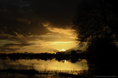 Golden time (AGB Photography) Tags: water weather landscape outdoors scene somersetlevels nikond7000 agbphotography2014