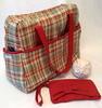 weekender bag & matching bow clutch (stephzerbeART) Tags: bag handmade sewing mother gift clutch weekender amybutler wristlet zipperpouch