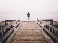 Into The Fog (AnthonyTulliani) Tags: dock foggy iphone vsco iphoneography vscocam jumpfog